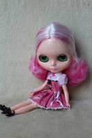 Free Shipping hot sale TB-R110  Nude B doll lovely DIY toy birthday gift for girls fashion 4 big eyes dolls beautiful Hair