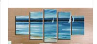 Handpainted Seascape Group Sea Landscape Oil Painting 5 pcs