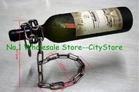 wholesale 80pcs/lot Floating Magic Chain Wine Bottle Holder Alcohol Champagne Illusion Rack Stand