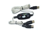 5-pin MIDI cable line music editor, MIDI to USB cable