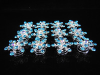 2015 New Real Plant Bridal Hair Accessories 10pcs Movies Frozen Elsa Jelweled Snowflake Girl Wedding Prom Twists Spins Pins