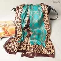 122074 2014 Newest Women's brand Georgette Satin scarf, 100% Silk scarves, rectangle silk scarf, Free Shipping,  Muslim Hijab