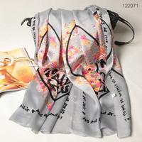 122071 2014 Newest Women's brand Georgette Satin scarf, 100% Silk scarves, rectangle silk scarf, Free Shipping,  Muslim Hijab