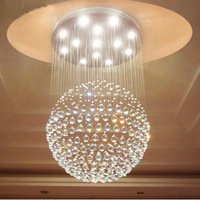 Free shipping top sales Empire 5 light living room lamp modern crystal chandelier,crystal ball lights Dia600*H800mm