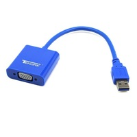 New USB 3.0 to VGA Multi-display Graphic Converter Adapter Cable 1920x1080 HD Win7/8 free shipping wholesale