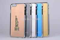 wholesale 20pcs/lot Hybrid 3D Statue of Liberty Aluminum PC Hard Case For iPhone 6 Plus 5.5''