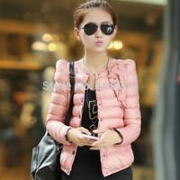 Autumn Winter Women's Slim Design Short Wadded Down Jacket Lady's Outerwear Warm Down Parkas Coat Plus Size M-XXL 2014 New