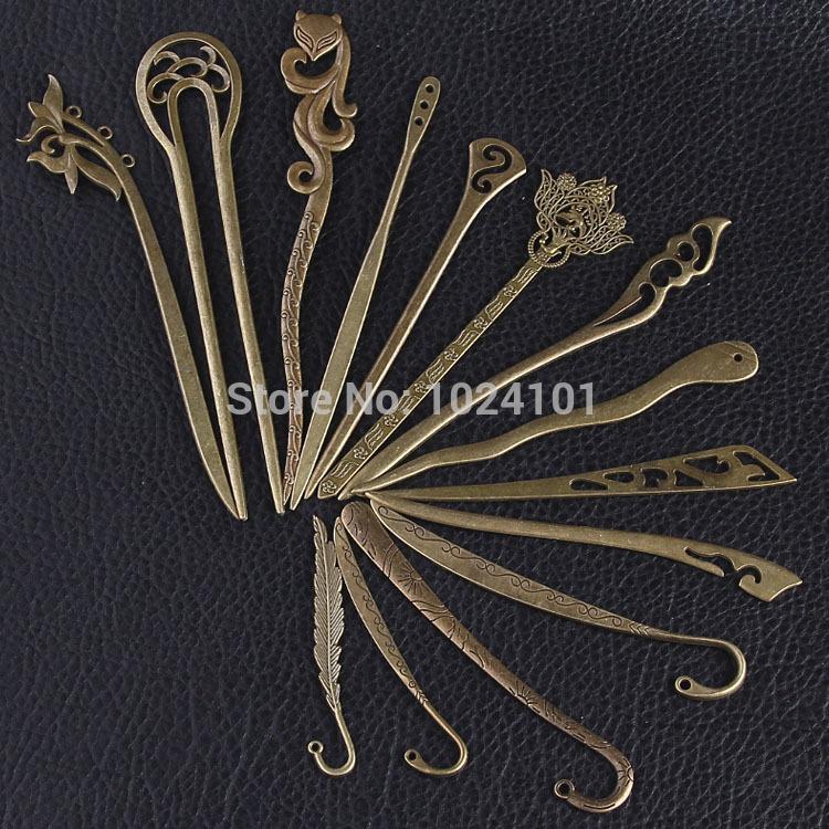 2014-2015 Newest Design Antique Bronze Hair Sticks,Metal Hair Sticks, Hair Accessories,Hair Sticks Hairpin,mixed,15pcs/lot(China (Mainland))