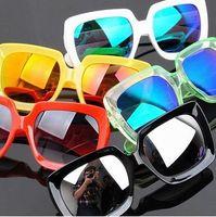 Fashion Unisex Designer Sunglasses Colorful Coated Reflective Glasses MZX-K985
