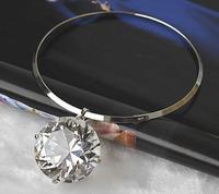 Luxury  Big  Crystal Diamond Dress Choker Statement Necklaces & Pendants 2014 New Fashion Jewelry Women Wholesale  C121