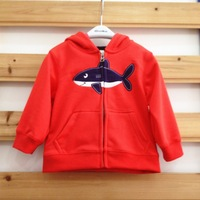 HB0487 high quality cotton baby hoodie with cap, baby fashion sweater, red, blue, black colors, girl boy kids clothes,honey baby