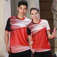2014 New Victor Tennis Table Shirt Short Men Women Badminton Suits Fashion PingPong Set Sweatshirt Free Shipping