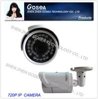 GOSEA Mini IP Camera Outdoor 720P Waterproof IP66 Network 1.0MP HD CCTV Camera P2P Plug Play GSA-IP100W + Free Power Supply