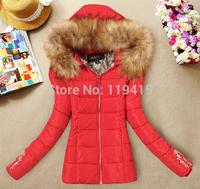 2014 Winter Warm Women Down Jcakets.European Fashion Slim Thick Coats Feather Women Fur Collar Women Down Parkas W02