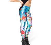 Bob shop 2014 Fitness Women Leggings The little mermaid Print Legging Punk Rock Clothes Galaxy Pants Free Shipping