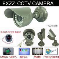 CCTV Camera 700TVL Security Camera CMOS with IR-CUT 36pcs IR leds Day night waterproof indoor Outdoor With bracket C011+