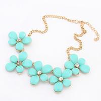 Shourouk Flower Choker Chain Bib Loom Rhinestone 2014 New Fashion Vintage Neon Bib Statement Necklaces & Pendants Women Jewelry