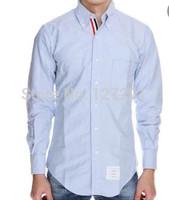 New Arrival fall gentleman Fashion Brand Three color placket long-sleeved Slim shirt