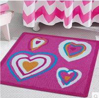 75*75cm mat anti-slip heart mat bedroom living room door rugs children's room cartoon absorbent thickened rugs