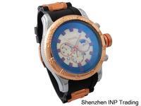 2014 Hot Sale New Watches Men Luxury Brand Silicone strap Alloy Watch Relogio Masculino Blue Dial quartz watch men invicta watch