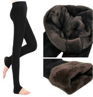 East Knitting Women Bamboo inside Thicken Fur Warm Leggings womens winter clothes plus size pants hot sale