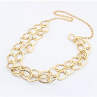 2014 New Fashion European and American Popular Long Chain Sweater Necklace Double Layer Necklace wholesale For Women Gift