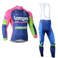 Free Shipping!Winter Bike team Cycling suit/jersey shirt/long (bib)pants cycling wear  bicycle outfit BL0030