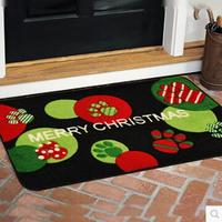 Merry Christmas45*75cm mat anti-slip mat bedroom living room door rugs children's room cartoon absorbent thickened rugs