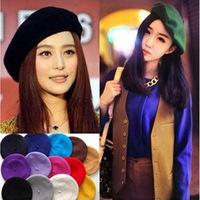 Manufacturers promotion Korean fashion women wool beret painter cap wool hat tide bud cap