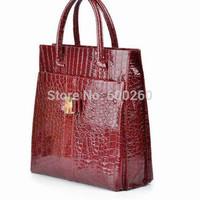 2014 the new Crocodile women shoulder bag Retro Pack women handbag PU leather bags high quality tote bags