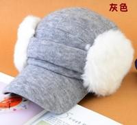 Korean version of the new autumn and winter fashion baseball cap detachable ear tide unisex hat factory wholesale