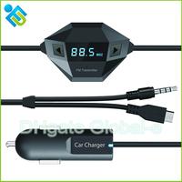 Multi-function Car Kit MP3 Player Wireless FM Transmitter Modulator Transmitter 3.5mm + micro USB port free shipping