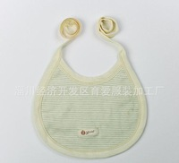 free shipping 50pcs/lot striped Organic adjustable thicken cotton infant  baby bibs