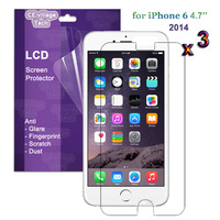 3Pcs Premium LCD Screen Protector Film Case Cover Guard for Apple iPhone 6 4.7 (HD Glossy Clear / AntiGlare Matte Available)