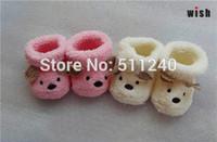 Cute Cartoon Baby Socks Bear Manual Slipper Shoes Newborn to 6 Month Autumn Winter Infant Gift Drop Shipping