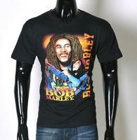 Hot Sale Summer BOB MARLEY in Men's T-Shirt 3D Creative Leisure Man Short Sleeve t-shirts 100% Cotton O-neck Size S-XXL Shirts