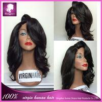 Best Beautiful Glueless Full Lace Wigs Cut Style 100% Unprocessed Virgin Brazilian Human Hair Short  Wigs For Black Women