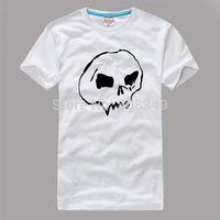 100% Cotton Men's Tees skeleton pattern T-Shirts S/M/L/XL/XXL/XXXL Fashion Large Size Shirts short sleeve