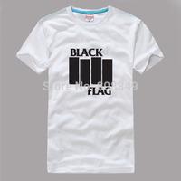 100% Cotton Men's Tees Black Flag T-Shirts S/M/L/XL/XXL/XXXL Fashion Large Size Shirts short sleeve