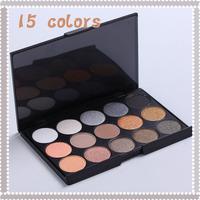 New fashion Pro 15 Earth Color Matte Pigment Eyeshadow Palette Cosmetic Makeup Eye Shadow  maquillaje maquiagem feminina