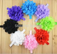 8Pcs/lot New Kids Baby Girls Headbands Big Chiffon Flowers Hairbands Headwear  Free shipping