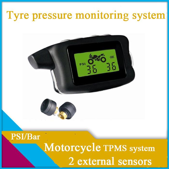 Freeshipping motorcycle TPMS,2 external sensors,PSI/BAR,tyre pressure monitoring system,Diagnostic Tools ,car tpms(China (Mainland))