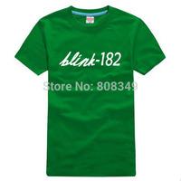 100% Cotton Men's Tees blink 182 T-Shirts S/M/L/XL/XXL/XXXL Fashion Large Size Shirts short sleeve