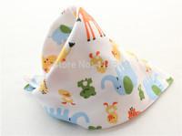 50pcs/lot unisex cartoon double-cotton thicken button snap baby infant bibs