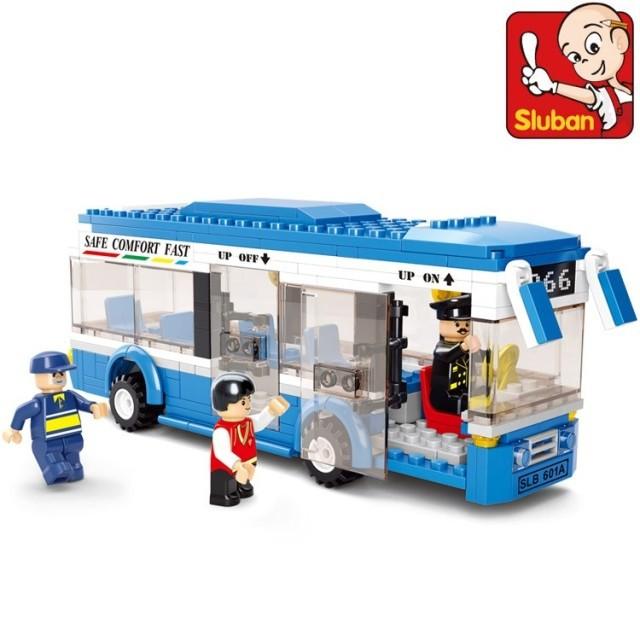 Free shipping c Plastic Building Blocks sets 235pcs City bus DIY Enlighten bricks toys educational toys(China (Mainland))
