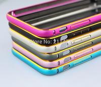 50pcs/lot.DHL Free.2014 Hot sale Slim Arc Dual Color Aluminum Metal Bumper Frame Case for iPhone 6 4.7 inch Circular arc case