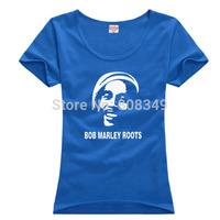 100% Cotton Women's Tees BobMarley T-Shirts S/M/L/XL Fashion Large Size Shirts short sleeve more colors
