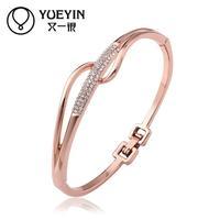 Jewelry Wholesale 10pcs/lot Z057  Nickle Free    Fashion Jewelry 18K Real Gold PlatedBracelets For Women Bangles