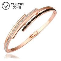 Jewelry Wholesale 10pcs/lot Z033  Nickle Free    Fashion Jewelry 18K Real Gold Plated Bracelets Bangles