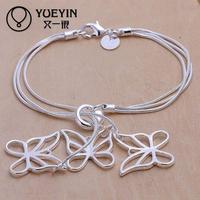 Jewelry Wholesale 10pcs/lot H166  Latest Women Classy Design 925 silver plated bracelet Factory Direct Sale